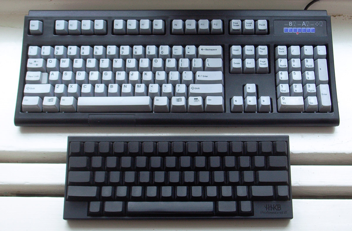 681410f8950 Unicomp SpaceSaver and Happy Hacking Keyboard Professional 2